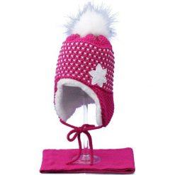 Czapka dziecięca z szalikiem CZ+S 043B różowo-biała r. 48-50. Czapki dla dzieci marki Reserved. Za 52.11 zł.