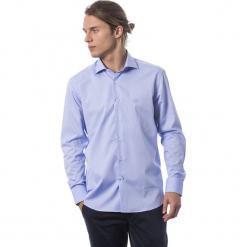 Koszula w kolorze niebieskim. Niebieskie koszule męskie Roberto Cavalli, Trussardi, z klasycznym kołnierzykiem. W wyprzedaży za 339.95 zł.