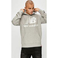 New Balance - Bluza. Szare bluzy męskie New Balance, z nadrukiem, z bawełny. W wyprzedaży za 259.90 zł.