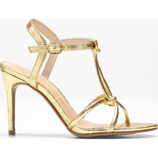 5cfd52da8 Sandały bonprix złoty metaliczny - Sandały damskie marki bonprix. Za ...
