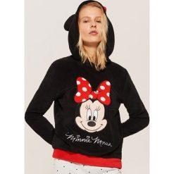 Bluza piżamowa Minnie Mouse - Czarny. Czarne piżamy damskie House, z motywem z bajki. Za 59.99 zł.