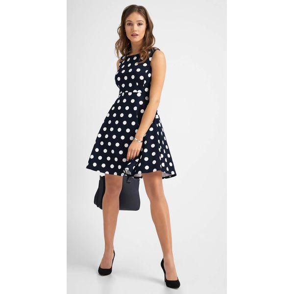 ab1ba55aa9 Rozkloszowana sukienka w grochy - Sukienki damskie marki Orsay
