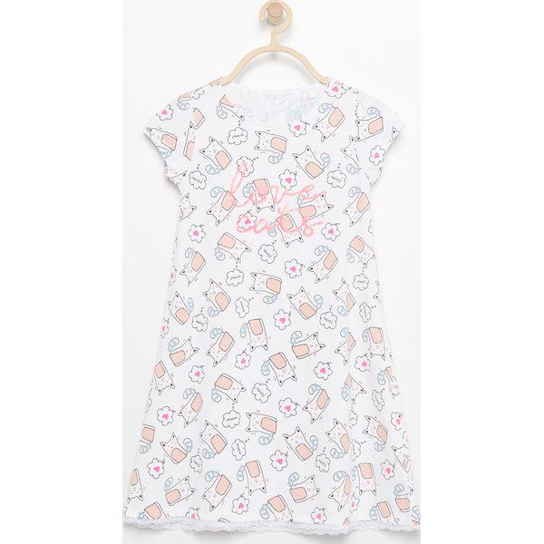 baafdfe1af93ff Koszula nocna we wzory - Biały - Bielizna dla dziewczynek Reserved ...