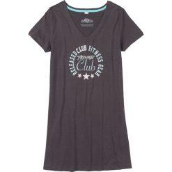 Koszula nocna bonprix szary łupkowy z nadrukiem. Szare koszule nocne damskie bonprix, z nadrukiem. Za 24.99 zł.