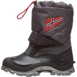 """Zimowe botki """"Morten"""" w kolorze szarym. Szare buty zimowe chłopięce Spirale, z materiału. W wyprzedaży za 79.95 zł."""