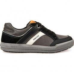 """Sneakersy """"Arzach"""" w kolorze szaro-czarnym. Czarne trampki i tenisówki chłopięce Geox Kids, z gumy. W wyprzedaży za 129.95 zł."""