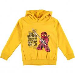 """Bluza """"Sebastian 715"""" w kolorze żółtym. Zielone bluzy dla chłopców marki Lego Wear Fashion, z bawełny, z długim rękawem. W wyprzedaży za 92.95 zł."""