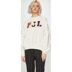 Pepe Jeans - Bluza Siena. Szare bluzy damskie Pepe Jeans, z aplikacjami, z bawełny. Za 279.90 zł.