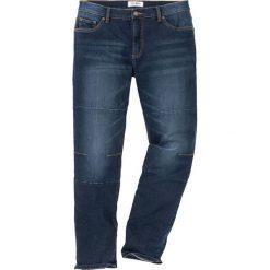 """Dżinsy ze stretchem Regular Fit Tapered bonprix ciemnoniebieski """"used"""". Niebieskie jeansy męskie bonprix. Za 109.99 zł."""