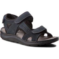 Sandały LASOCKI FOR MEN - MI18-877B Granatowy. Niebieskie sandały męskie Lasocki For Men, z materiału. Za 119.99 zł.