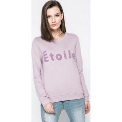 Vero Moda - Bluza. Szare bluzy damskie Vero Moda, z aplikacjami, z bawełny. W wyprzedaży za 89.90 zł.
