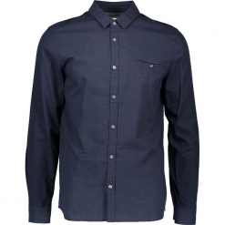 Koszula - Slim fit - w kolorze granatowym. Niebieskie koszule męskie Mustang, w paski, z bawełny, z klasycznym kołnierzykiem. W wyprzedaży za 99.95 zł.
