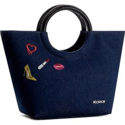 Torebka KAZAR - Sabrina 29489-27-19 Granatowy. Niebieskie torebki do ręki damskie Kazar, z aplikacjami, z jeansu. W wyprzedaży za 419.00 zł.