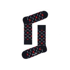 Skarpetki Happy Socks KTM01-9000. Brązowe skarpety męskie Happy Socks, z bawełny. Za 24.43 zł.
