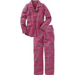 Piżama flanelowa bonprix różowy w kratę. Piżamy damskie marki MAKE ME BIO. Za 89.99 zł.