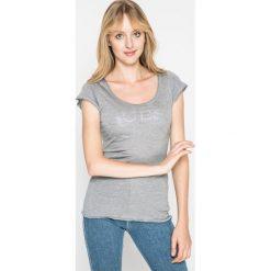 Guess Jeans - Koszulka piżamowa. Szare koszule nocne damskie Guess Jeans, z nadrukiem, z jeansu. W wyprzedaży za 69.90 zł.