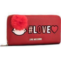 Duży Portfel Damski LOVE MOSCHINO - JC5536PP16LK0500  Rosso. Czerwone portfele damskie Love Moschino, ze skóry ekologicznej. Za 439.00 zł.