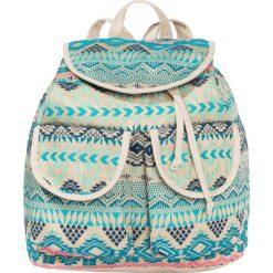 Plecak bonprix turkusowo-kolorowy. Niebieskie torebki shopper damskie bonprix, w kolorowe wzory, z bawełny. Za 59.99 zł.