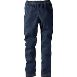 """Legginsy dżinsowe bonprix ciemnoniebieski """"stone"""". Jeansy dla dziewczynek marki Pulp. Za 49.99 zł."""