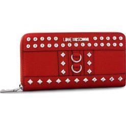 Duży Portfel Damski LOVE MOSCHINO - JC5595PP06KV0500 Rosso. Czerwone portfele damskie Love Moschino, ze skóry ekologicznej. Za 479.00 zł.