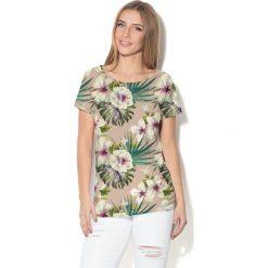 Colour Pleasure Koszulka CP-034  161 beżowa r. XXXL/XXXXL. T-shirty damskie Colour Pleasure. Za 70.35 zł.