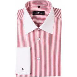 Koszula VITTORE slim 14-01-08. Białe koszule męskie Giacomo Conti, w paski, z bawełny, z klasycznym kołnierzykiem, z długim rękawem. Za 199.00 zł.
