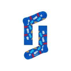 Skarpetki Happy Socks - Logs (LOG01-6000). Szare skarpety męskie Happy Socks, w kolorowe wzory, z bawełny. Za 34.90 zł.