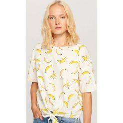 Koszulka we wzory - Kremowy. Białe t-shirty damskie Reserved. Za 39.99 zł.