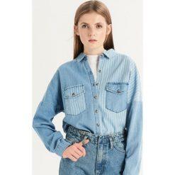 Jeansowa koszula w paski - Niebieski. Niebieskie koszule damskie Sinsay, w paski, z jeansu. Za 79.99 zł.