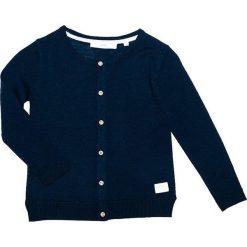 """Kardigan wełniany """"Smila"""" w kolorze granatowym. Swetry dla dziewczynek marki bonprix. W wyprzedaży za 112.95 zł."""