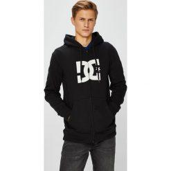 DC - Bluza. Czarne bluzy męskie DC, z nadrukiem, z bawełny. W wyprzedaży za 259.90 zł.