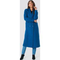 NA-KD Dwurzędowy płaszcz - Blue. Niebieskie płaszcze damskie NA-KD. Za 364.95 zł.