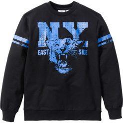"""Bluza """"college"""" bonprix czarny. Bluzy dla chłopców bonprix, z nadrukiem. Za 44.99 zł."""