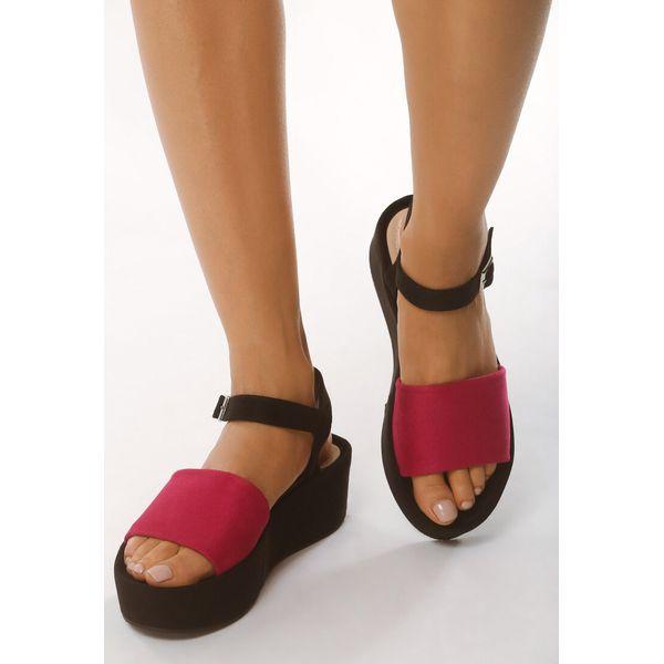 2e067985b18a5 Różowe Sandały Retailer - Czerwone sandały damskie marki Born2be ...