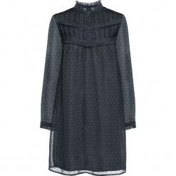 Sukienka z koronką bonprix ciemnoszary. Szare sukienki damskie bonprix, w koronkowe wzory, z koronki. Za 109.99 zł.