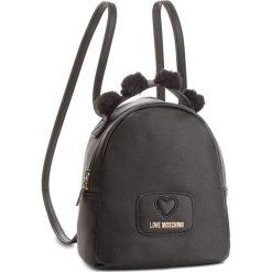 Plecak LOVE MOSCHINO - JC4286PP06KL0000  Nero. Czarne plecaki damskie Love Moschino, ze skóry ekologicznej, eleganckie. Za 719.00 zł.