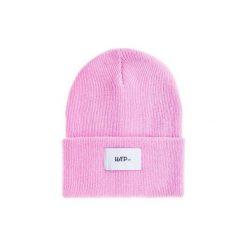 Czapka Beanie Pink. Czerwone czapki i kapelusze męskie Harp team, z dzianiny. Za 49.00 zł.