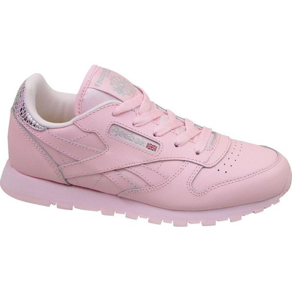 12b0edad Reebok Buty juniorskie Classic Leather Metallic BD5898 różowe r ...