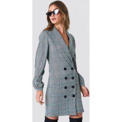 NA-KD Classic Sukienka marynarka z bufiastym rękawem - Grey,Multicolor. Szare żakiety damskie NA-KD Classic. Za 202.95 zł.