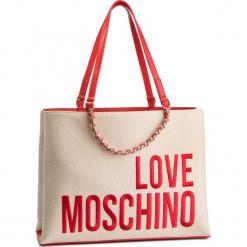 Torebka LOVE MOSCHINO - JC4112PP17LO0107 Naturale. Brązowe torebki do ręki damskie Love Moschino, z materiału. Za 839.00 zł.