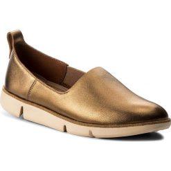 Półbuty CLARKS - Tri Curve 261325344 Bronze. Brązowe półbuty damskie Clarks, z materiału. W wyprzedaży za 299.00 zł.