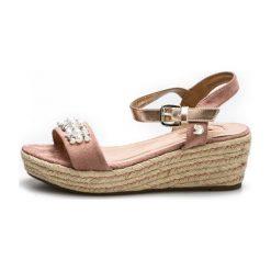 Tom Tailor Sandały Damskie 38 Różowe. Czerwone sandały damskie Tom Tailor, z materiału. W wyprzedaży za 189.00 zł.