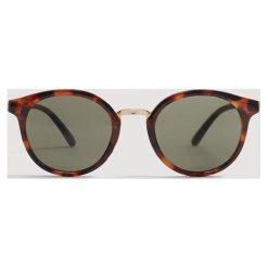 Mango Man - Okulary Matt. Brązowe okulary przeciwsłoneczne męskie Mango Man, z materiału. Za 119.90 zł.