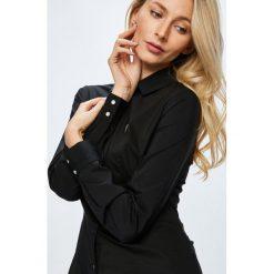 Guess Jeans - Koszula. Szare koszule damskie Guess Jeans, z aplikacjami, z bawełny, z długim rękawem. Za 319.90 zł.
