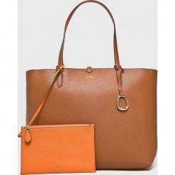 Lauren Ralph Lauren - Torebka. Pomarańczowe torby na ramię damskie Lauren Ralph Lauren. Za 769.90 zł.