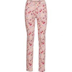 Spodnie drukowane ze stretchem bonprix stary jasnoróżowy z nadrukiem. Spodnie materiałowe damskie marki DOMYOS. Za 49.99 zł.