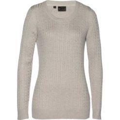 Sweter z kaszmirem bonprix beżowy melanż. Swetry damskie marki bonprix. Za 149.99 zł.