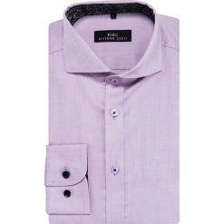 Koszula IGNAZIO 16-01-06-K. Fioletowe koszule męskie Giacomo Conti, na lato, w kolorowe wzory, z bawełny, z włoskim kołnierzykiem, z długim rękawem. Za 229.00 zł.