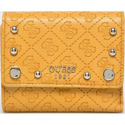 Guess Jeans - Portfel. Pomarańczowe portfele damskie Guess Jeans, z aplikacjami, z jeansu. Za 259.90 zł.