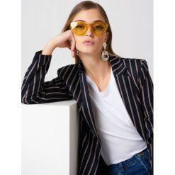 NA-KD Accessories Okulary przeciwsłoneczne z okrągłymi szkłami - Yellow. Żółte okulary przeciwsłoneczne damskie NA-KD Accessories. Za 80.95 zł.